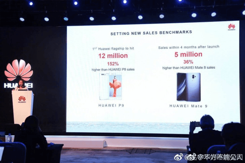 Huawei Mate 9 5 Million Mark