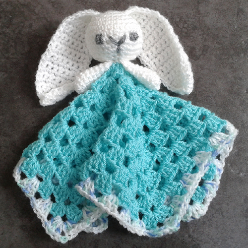 Cute Bunny Comforter / Lovey - Free Pattern