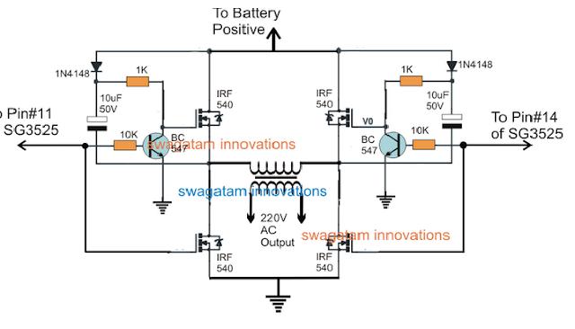 SG3525 Full Bridge Inverter Circuit ~ Electronic Circuit