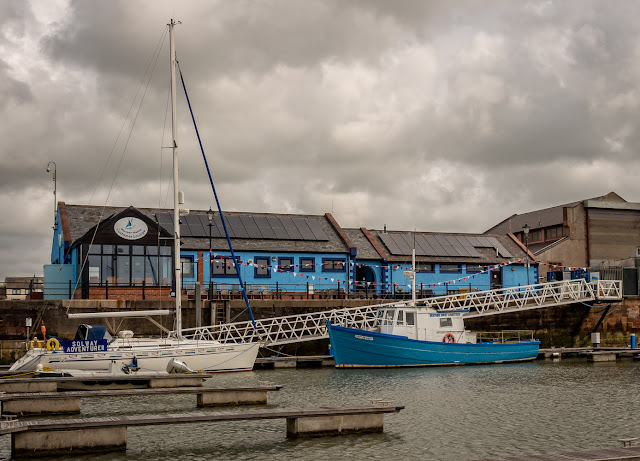 Photo of clouds gathering over Maryport Marina on Friday afternoon