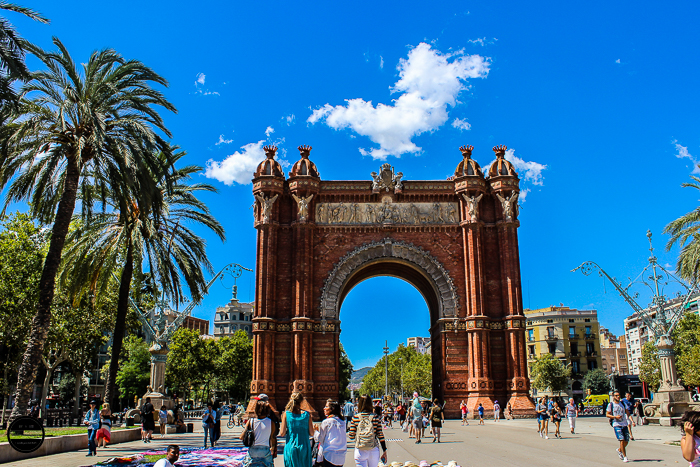 Arc de Triomf-Barcelona, beautiful architecture,a popular tourist destination.