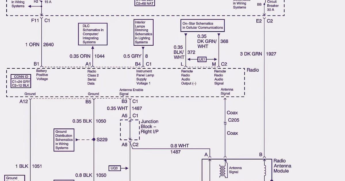 2005 Chevy Monte Carlo Radio Wiring Diagram Schematic Rise