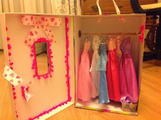 DIY barbie doll closet