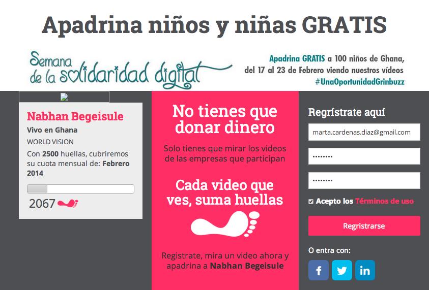 Arranca la Semana Solidaria Digital #UnaOportunidadGrinbuzz