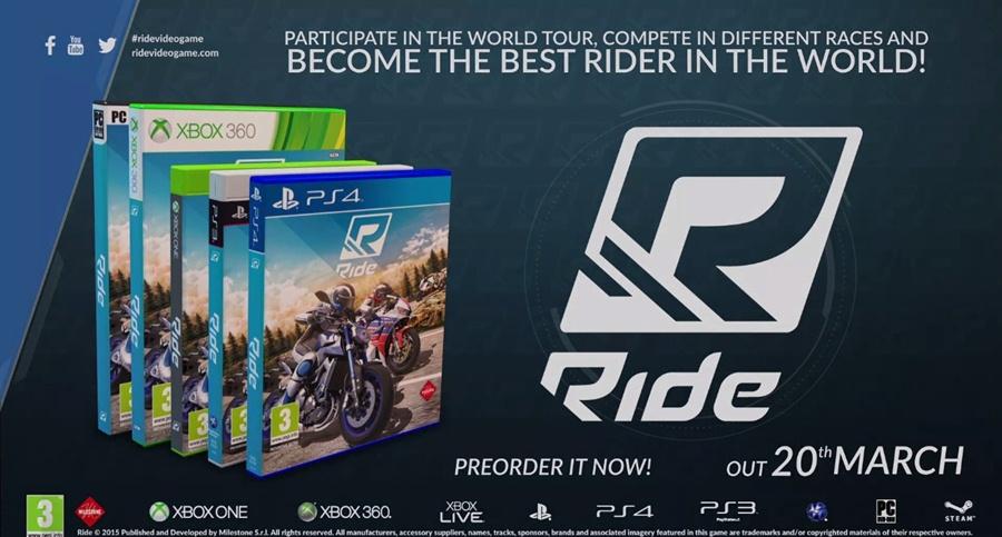 RIDE PC Game 2015 Free Download Poster