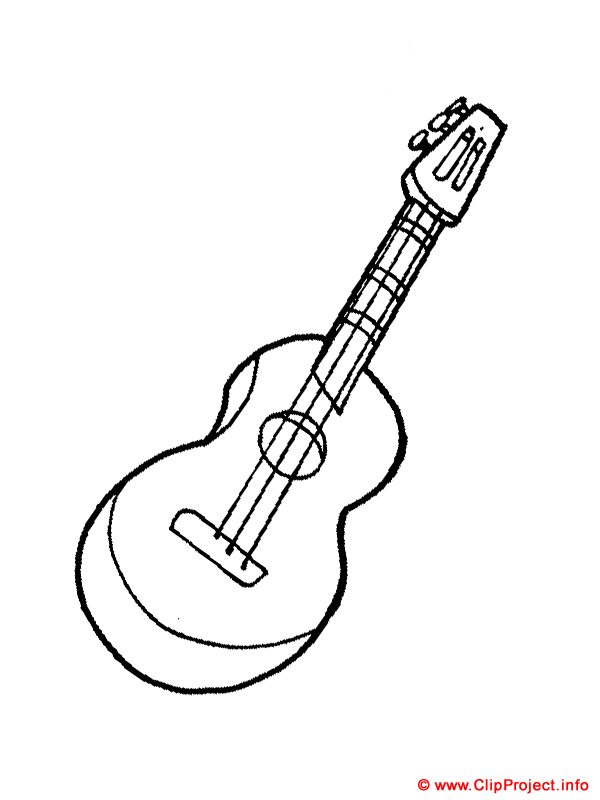 cool guitar coloring pages | Coloring Pages for Kids: Guitar Coloring Pages for Kids
