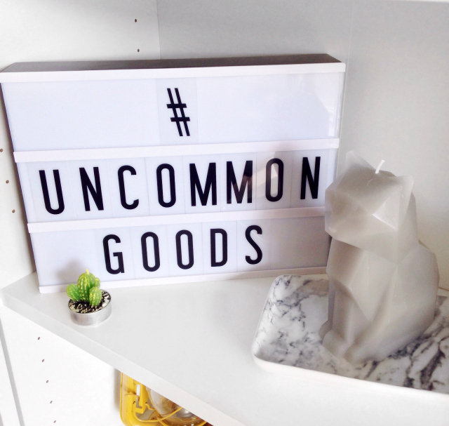 uncommon goods, cinema lightbox, pyropet, kisa, homeware, haul,