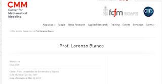 Centro Modelamiento Matemático de la Universidad de Chile Lorenzo J. Blanco