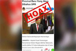 Sebar Hoax Daftar Daerah Pemekaran, Kabarbangka.com Dinilai Fitnah Kemendagri