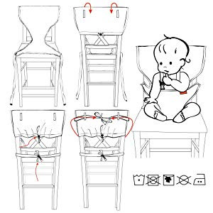 Image: My Little Seat Infant Travel High Chair | Ultra portable and machine washable travel high chair