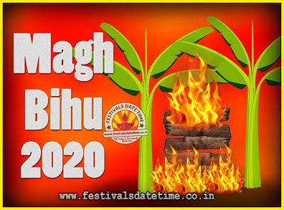 2020 Magh Bihu Festival Date and Time, 2020 Magh Bihu Calendar