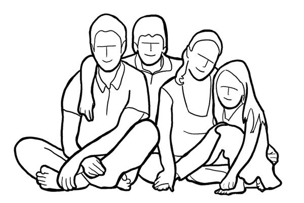 دليل أوضاع تصوير الأسرة بالصور 3
