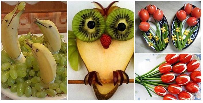 De Todo Un Poco Decoraciones Con Frutas Y Verduras
