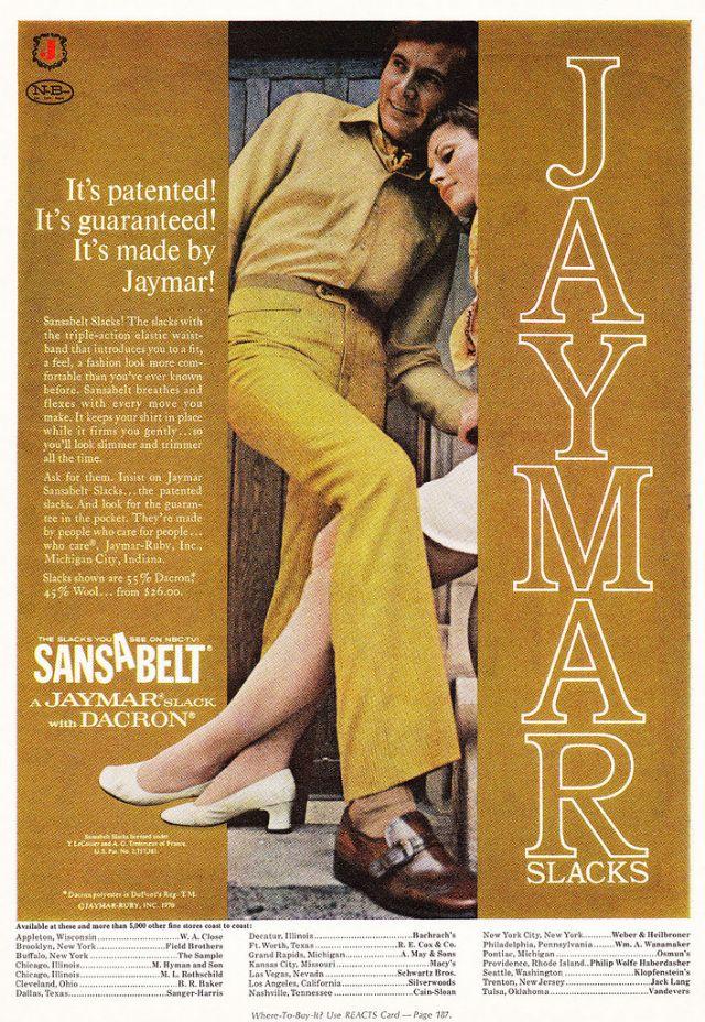 young mans mood vintage sansabelt slacks ads from the