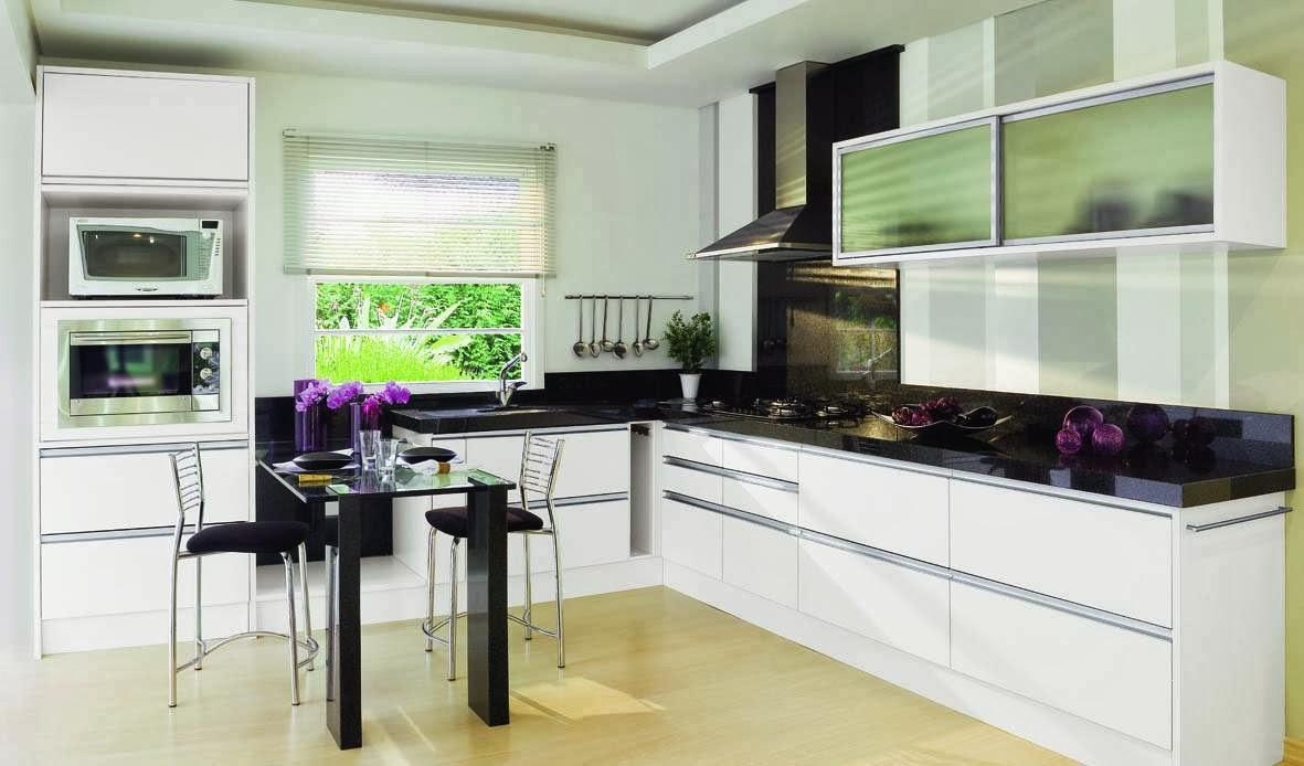 Decorar cocinas en blanco y negro colores en casa - Cocinas decoradas en blanco ...