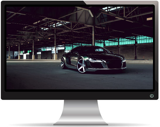 Audi R8 Chrome CW 5 Mat Noire - Fond d'écran en Full HD 1080p