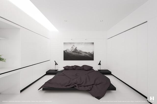 Desain Kamar Tidur Nuansa Hitam Putih