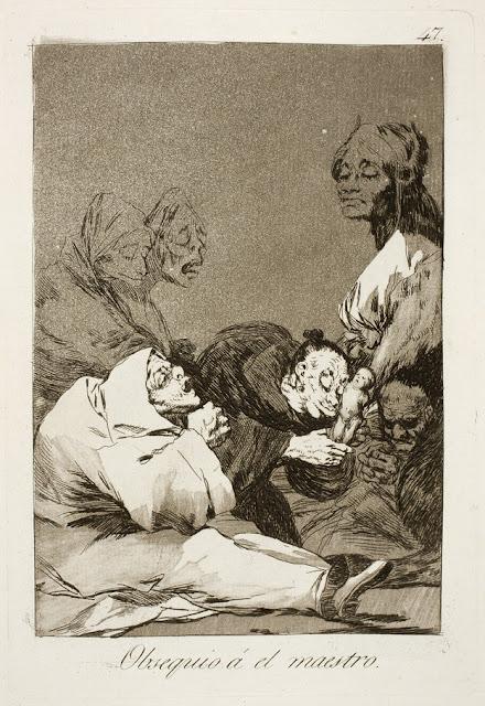 Goya Los Caprichos - Obsequio a el maestro / Ένα δώρο για τον Αφέντη / A Gift for the Master
