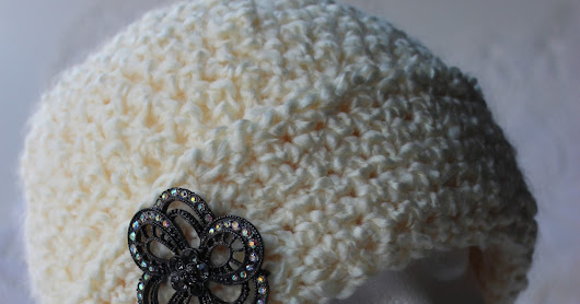 Free Crochet Pattern for a Young Girls Fancy Chemo Cap