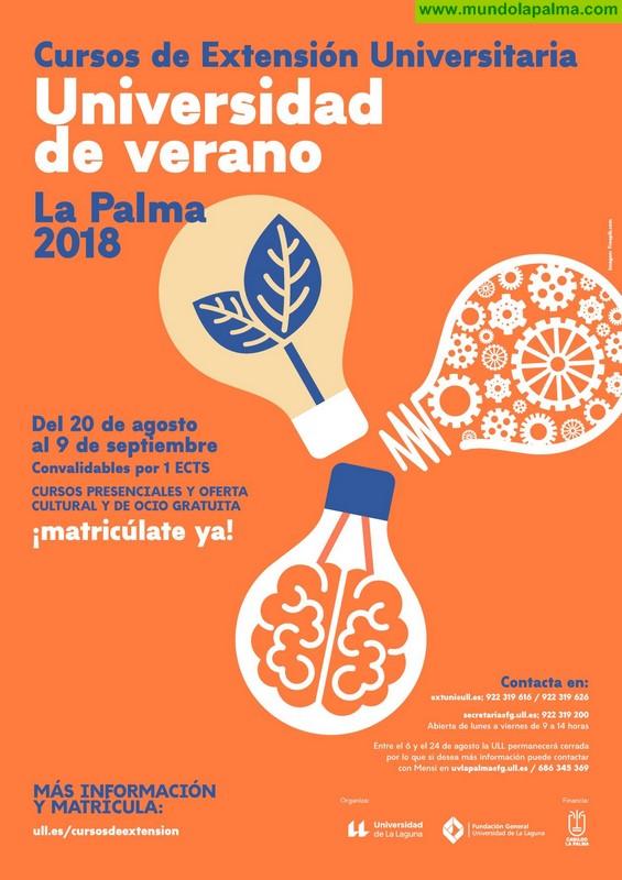 La Universidad de Verano de La Palma desarrolla su recta final con cinco nuevos cursos a partir de la próxima semana