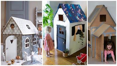casitas-cajas-cartón-reciclado