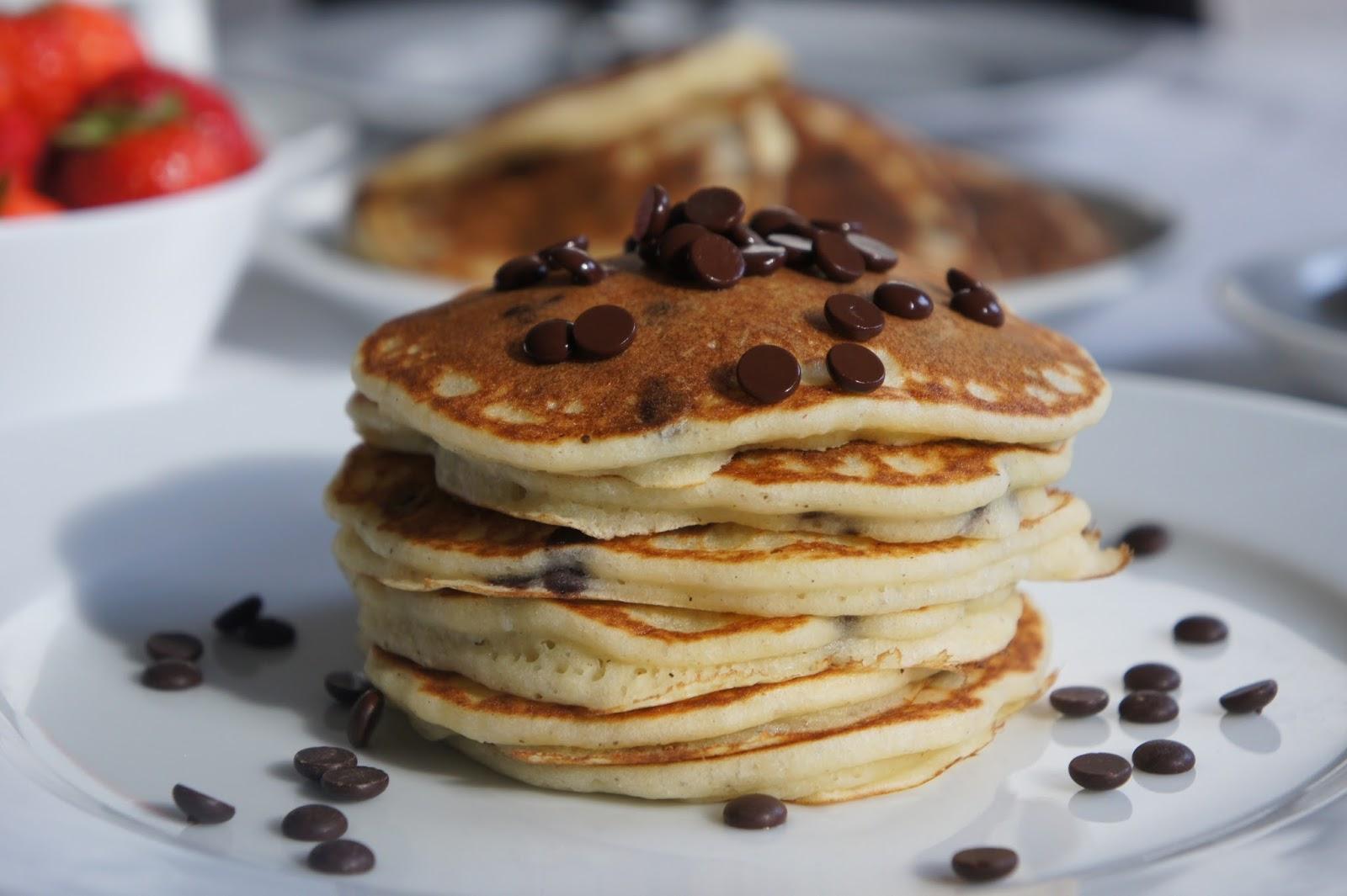 rezept glutenfreie chocolate chip pancakes ein glutenfreier blog. Black Bedroom Furniture Sets. Home Design Ideas