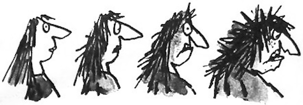 The Twits by Roald Dahl If a person has ugly thoughts, it begins to show on the face