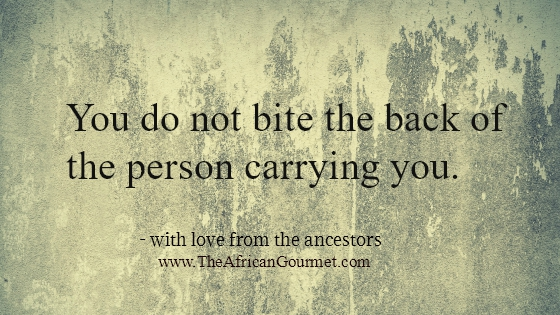 You do not bite the back of the person carrying you.
