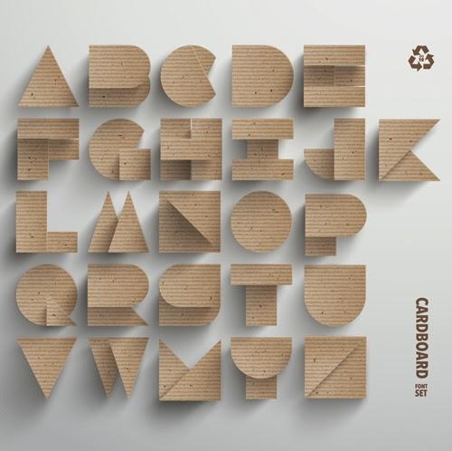 Alfabeto Carton Vectorial