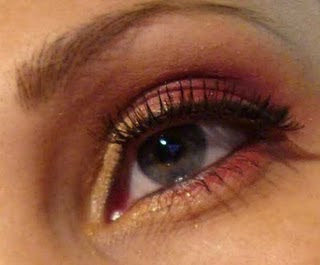 make up rojo dorado Tammystyle