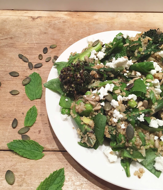 Herbed Green Quinoa With Toasted Seeds + Feta | Concealer + Kale