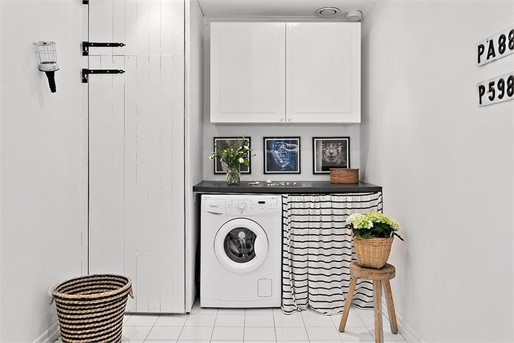 cuarto colada lavar ropa lavadora blanco estilo nordico decoracion nordica interiorista barcelona alquimia deco
