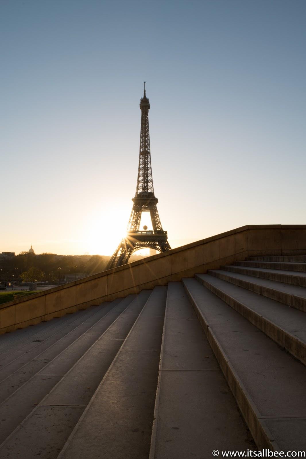 Sunrise In Paris - The Best Spots For Sunrise Photography In Paris #photography #sunrise #sunset #tips #earlyrise #trocadero #eiffeltower #cityoflight