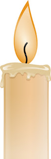 Clipart image of a flickering candle
