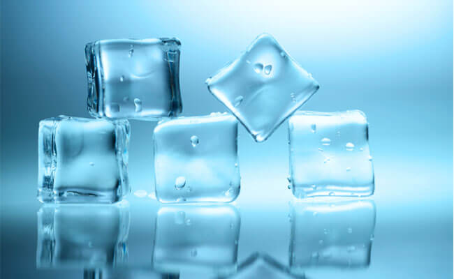 get rid of pimple ice cube