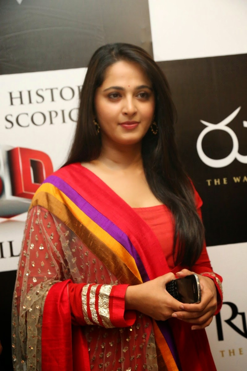Hollywood Actress Anushka Shetty Latest Photos In Red Dress