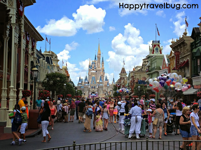 Main Street and Cinderella's Castle at the Magic Kingdom