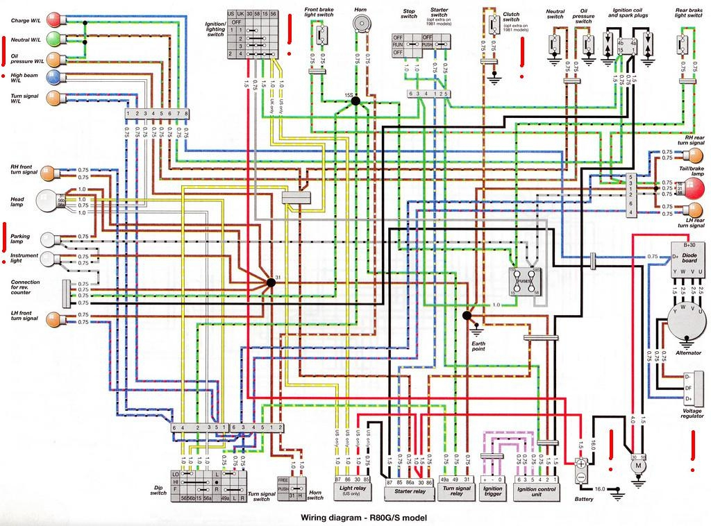BMW R80G S Electrical Wiring Diagram All About Wiring Diagrams