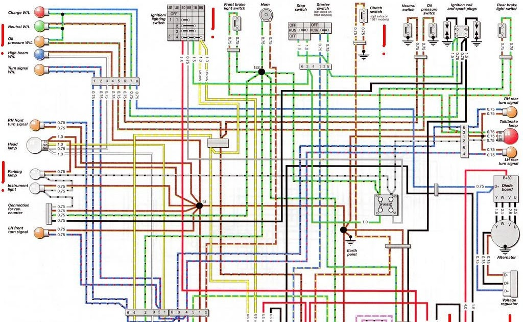 BMW R80GS Electrical Wiring Diagram | All about Wiring