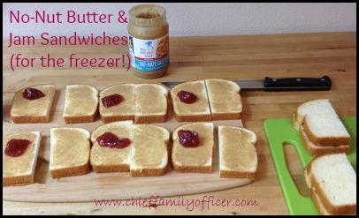 Freezer-friendly No-Nut Butter Sandwiches - chieffamilyofficer.com