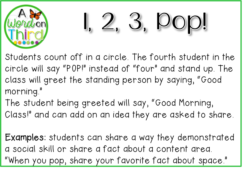 4 morning meeting greetings your students will love a word on third 4 morning meeting greetings your students will love by a word on third m4hsunfo