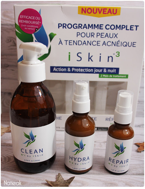 iSkin³ programme complet pour peaux à tendance acnéique