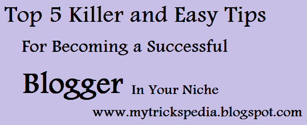 Top 5 Killer and Easy Tips For Becoming a Successful Blogger In Your Niche