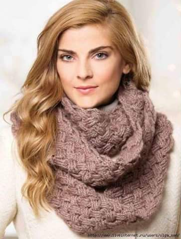 Patrón #827:Bufanda a Crochet