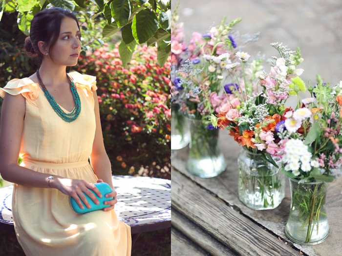 Invitada perfecta verano 2015. la bocoque. vestido amarillo largo con volantes