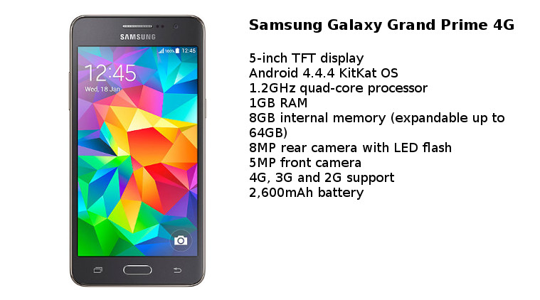Samsung Galaxy Grand Prime 4G in India Rs 11100/-