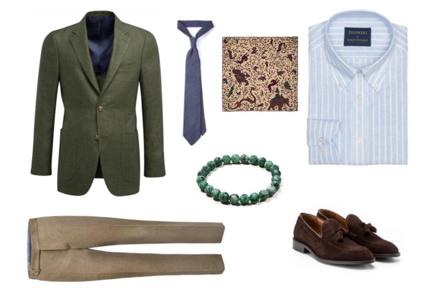 5a80a43c4e3cf Vintage/Marynarka: Suit Supply/Spodenki: Benevento/Krawat:  Szarmant/Poszetka: Szarmant/Bransoletka: Poszetka.com/Loafersy: Partenope