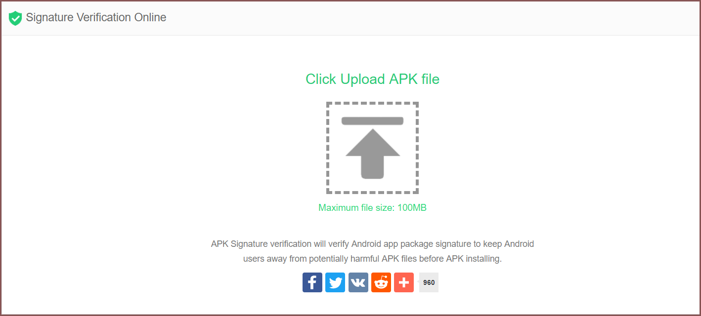 The popular apkpure site tool to check if any APK