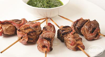 أسياخ لحم الحمل مع بستو النعناع - مطبخ فتافيت