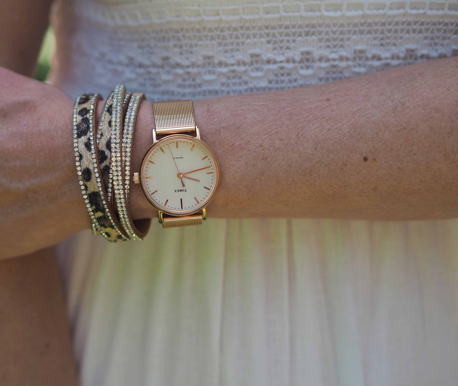 Leopard print wrap bracelet